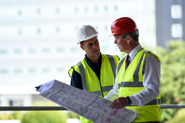 Architects discussing plans